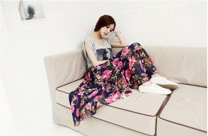 กระโปรงยาว Maxi Skirt